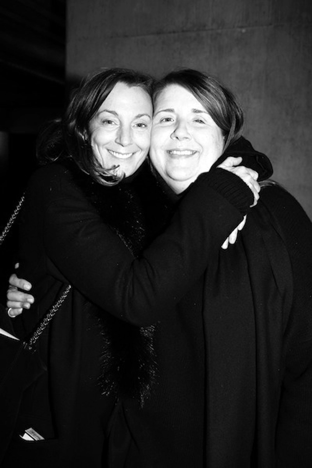 Wilson with the designer Phoebe Philo, a former student