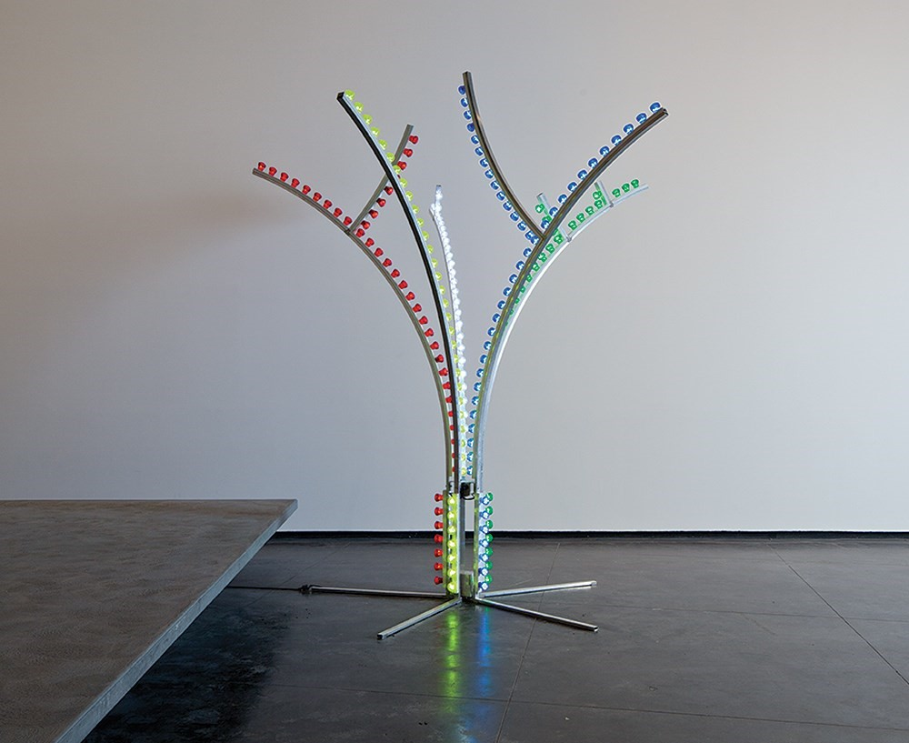 Nathan Coley Luna Tree, 2011 Aluminium and light f