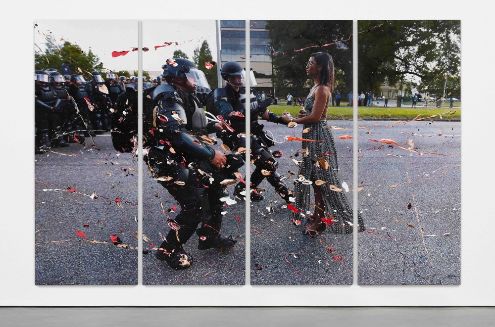 History Painting Ieshia Evans Protesting the Deat