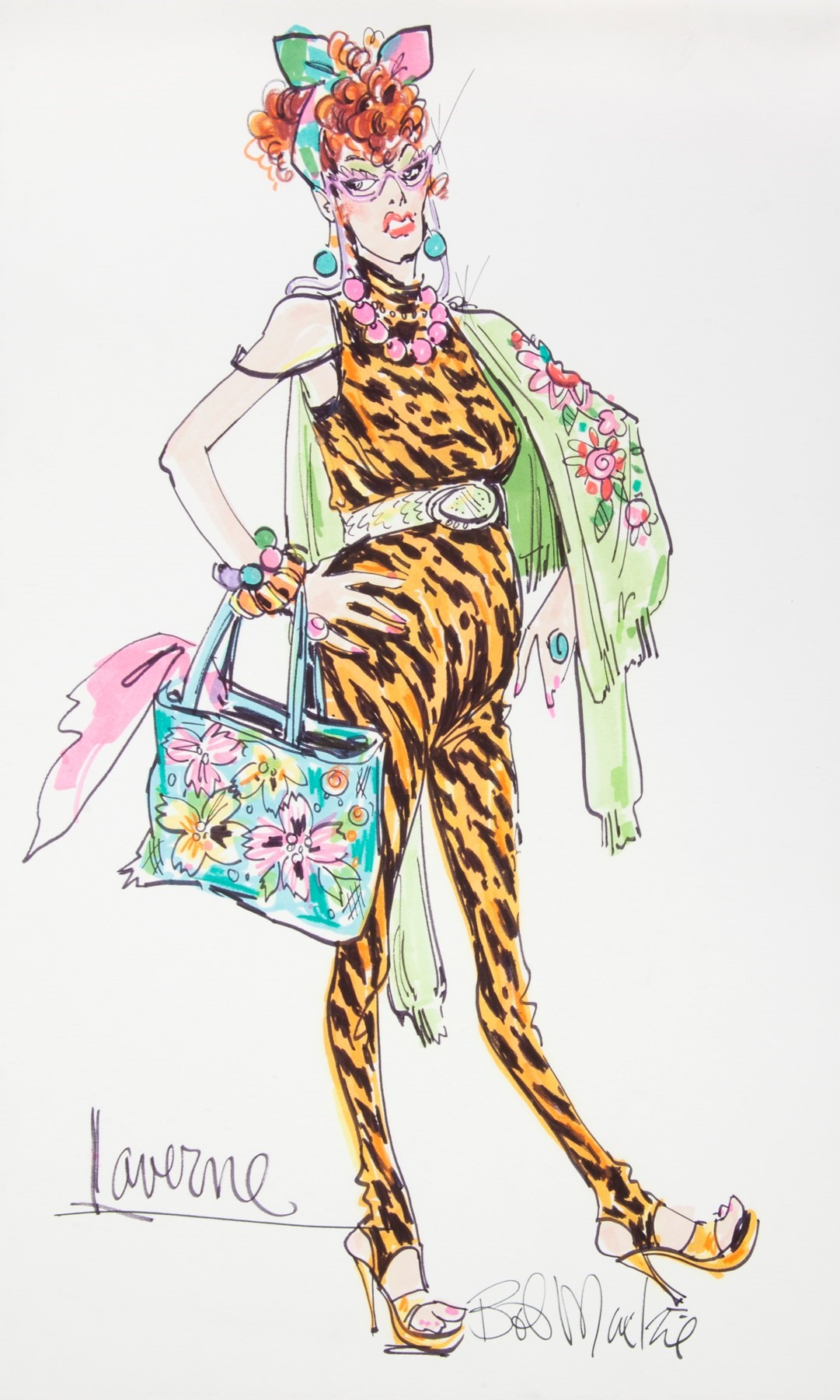 71634.00 CHER LAVERNE COSTUME ILLUSTRATION