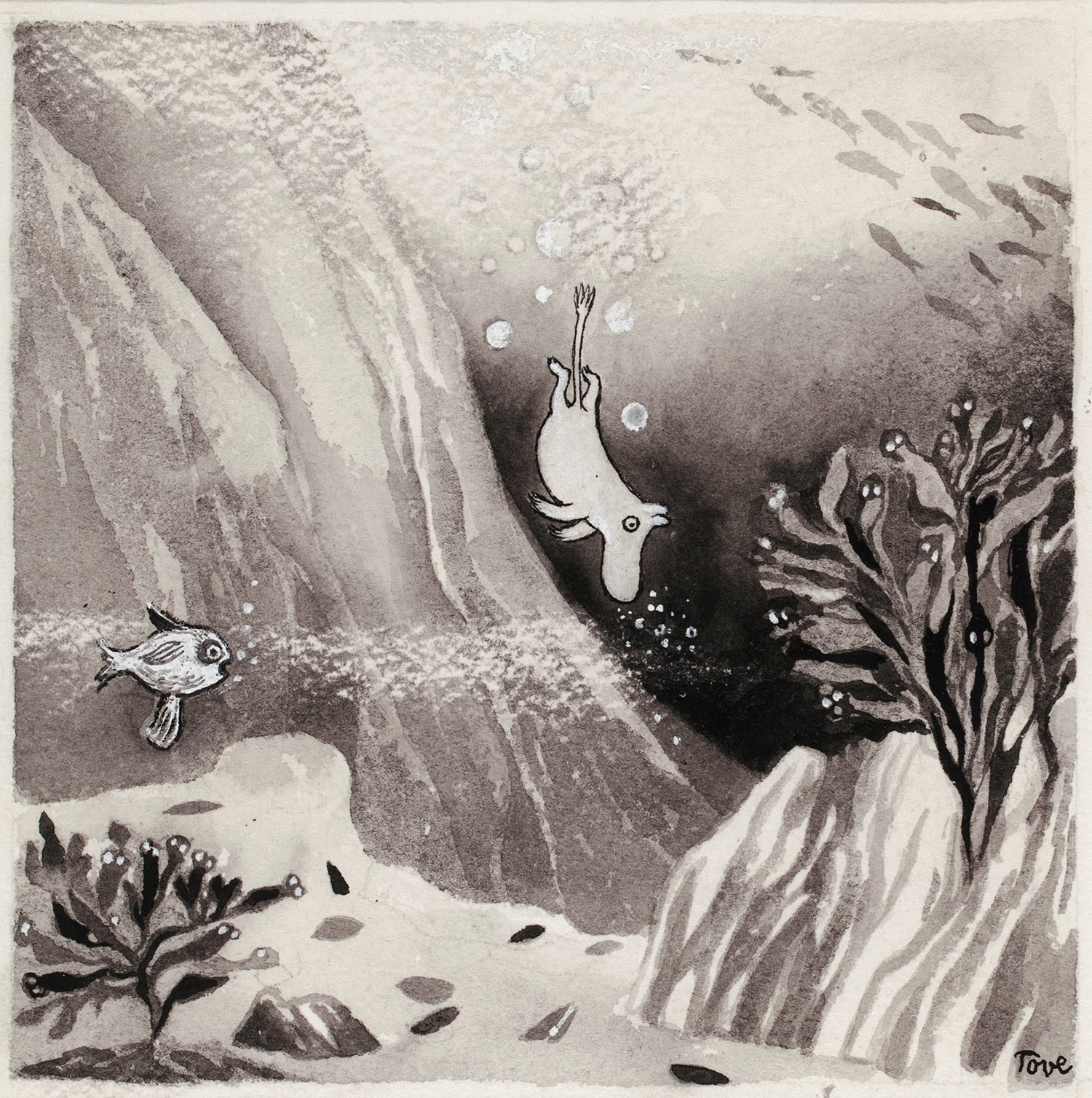 Illustration for the book Comet in Moominland