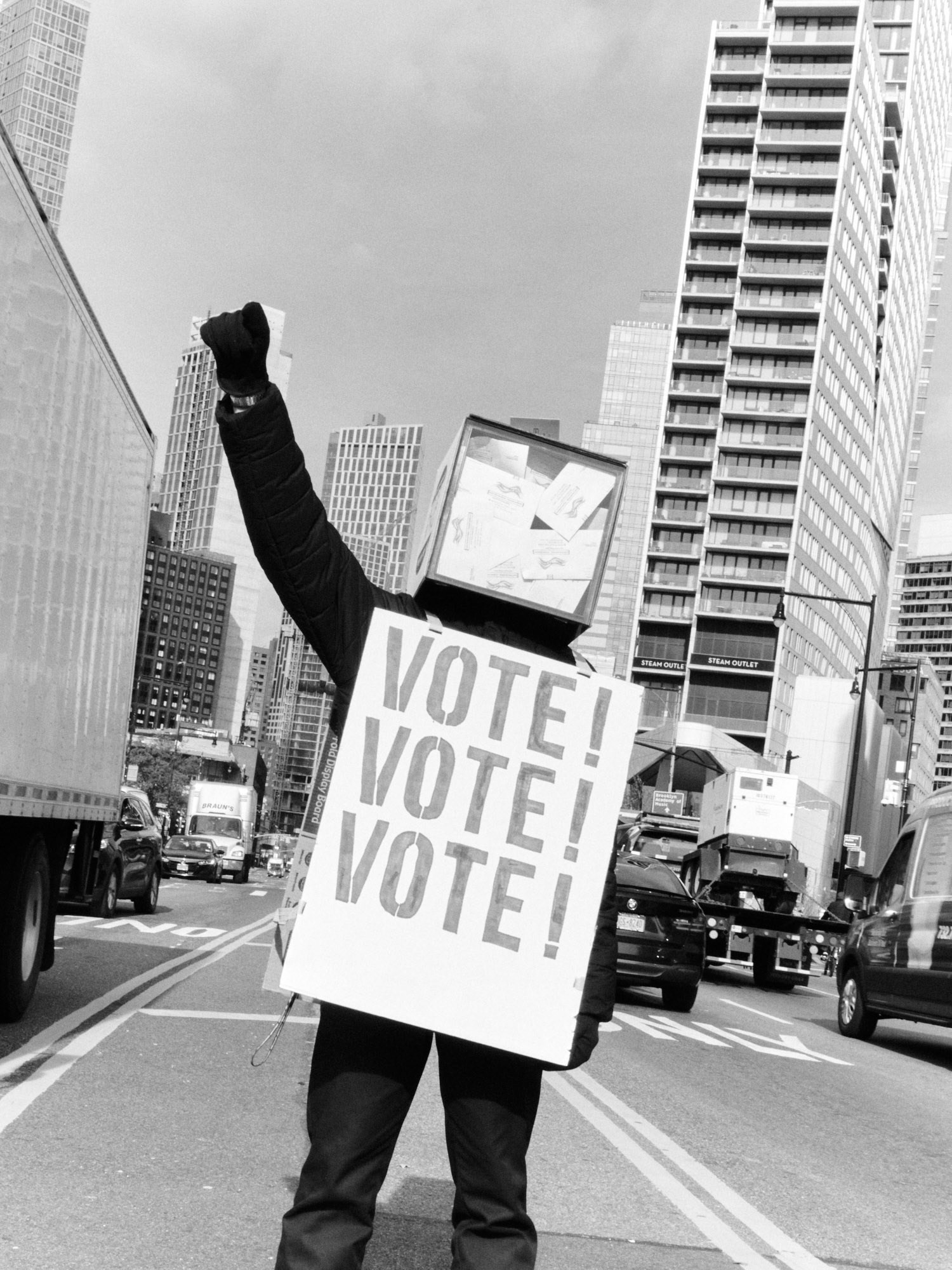US election day 2020 New York City Devin Doyle