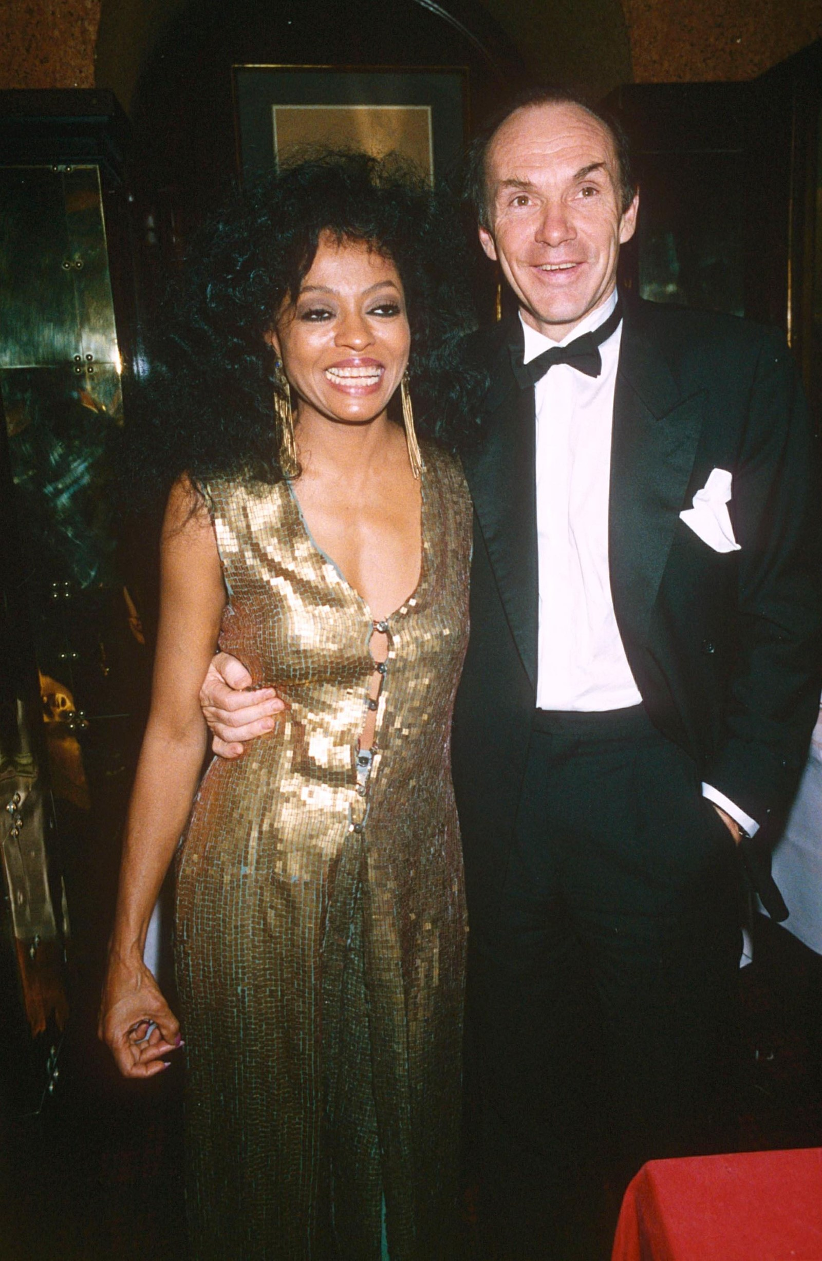 Diana Ross and Arne Naess, Annabel's 1991