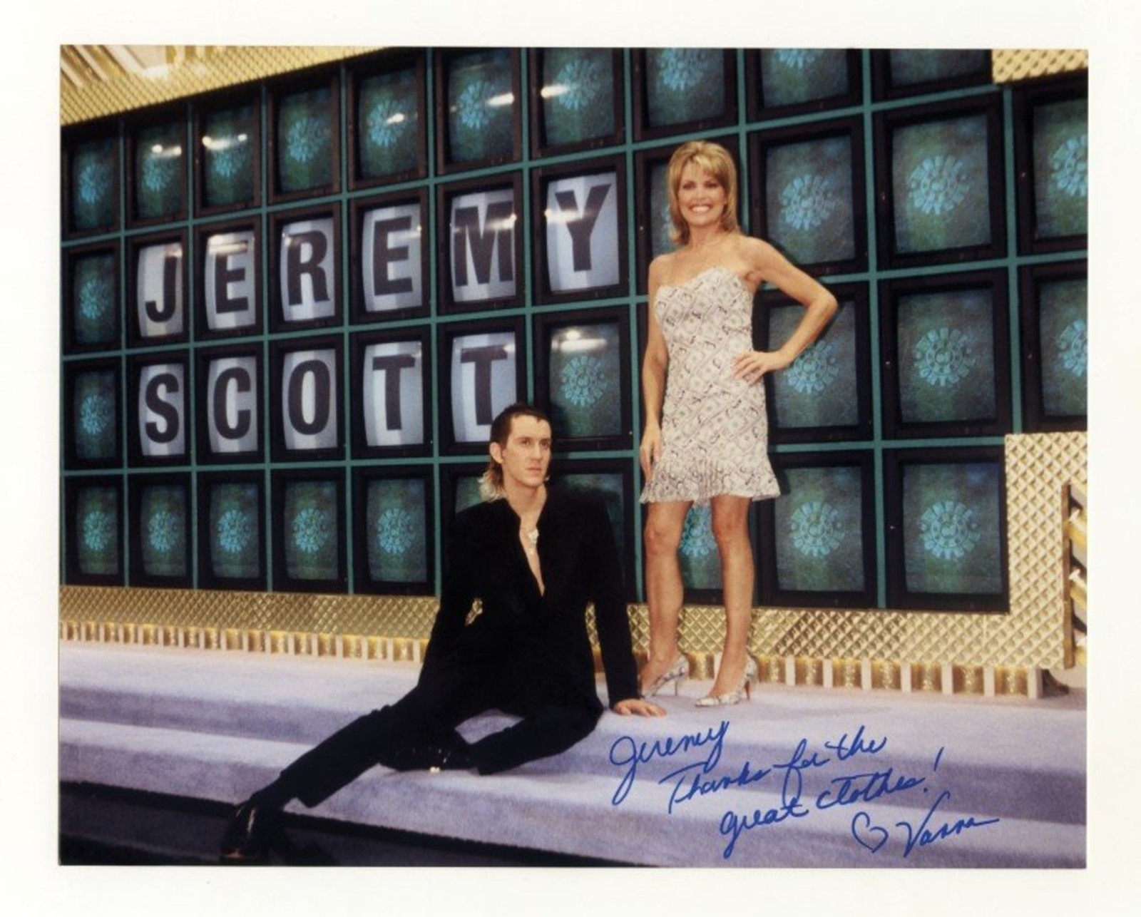 Jeremy Scott with Vanna White, 2001