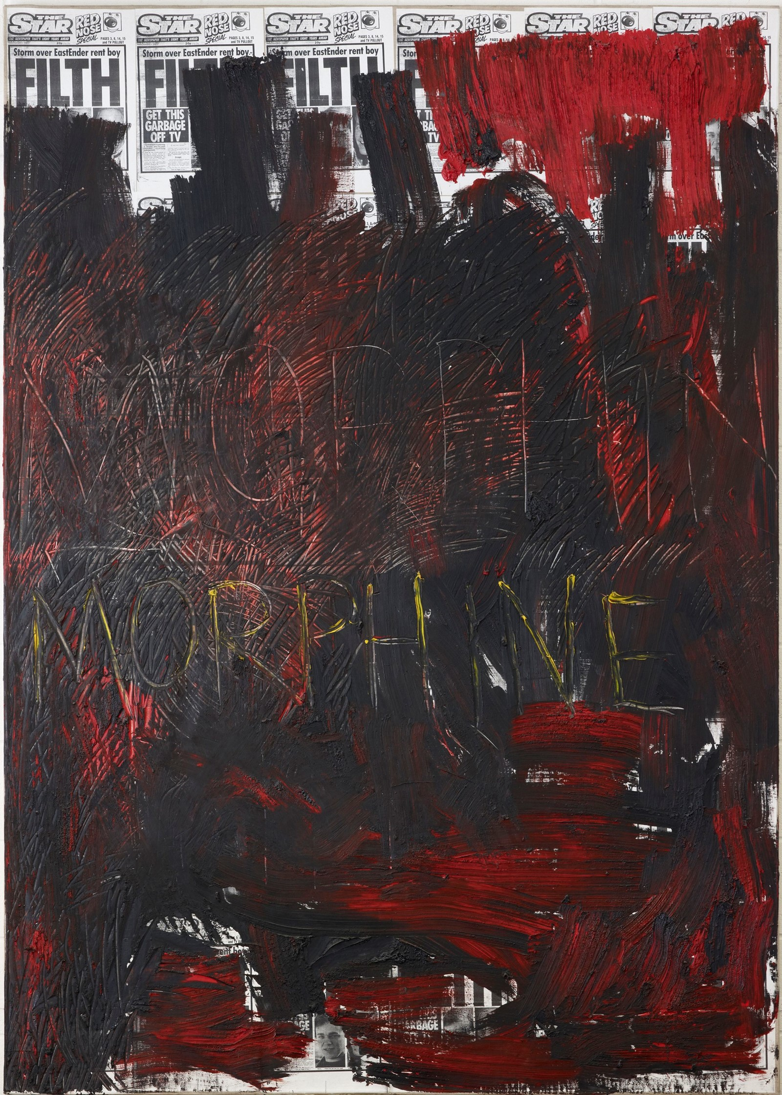 3. Morphine, 1992, Oil on canvas. 251.5 x 179cm, A