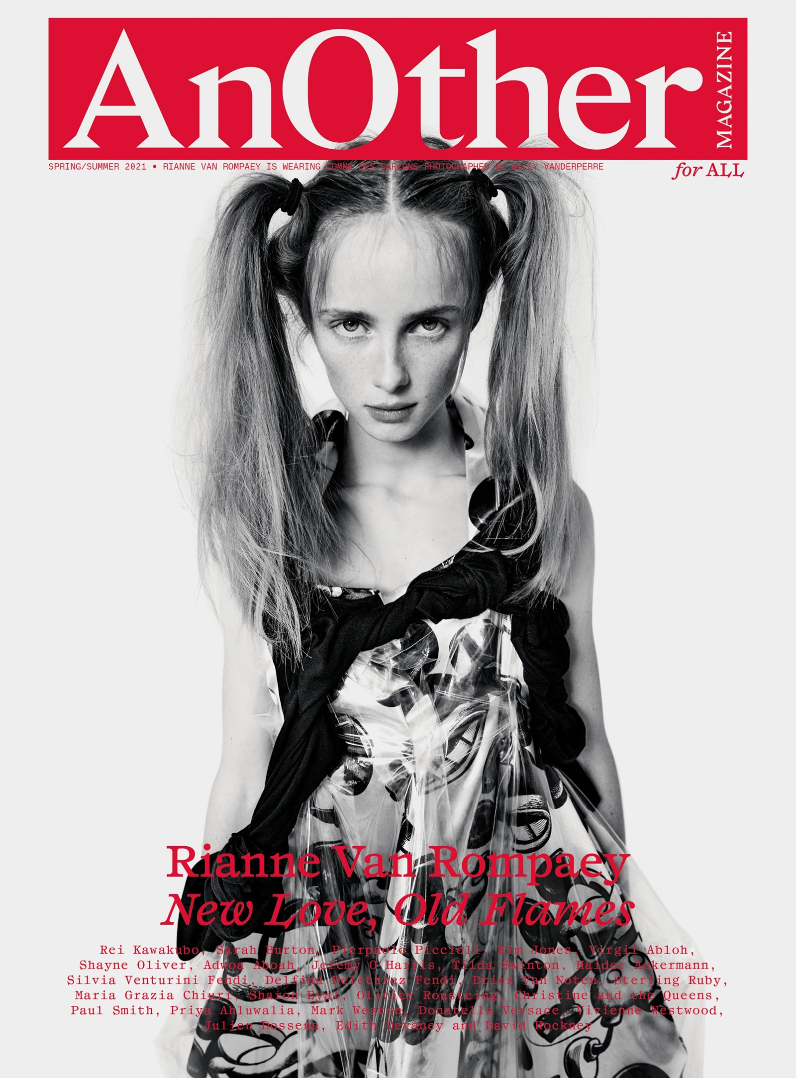 Rianne Van Rompaey Willy Vanderperre AnOther Magazine cover