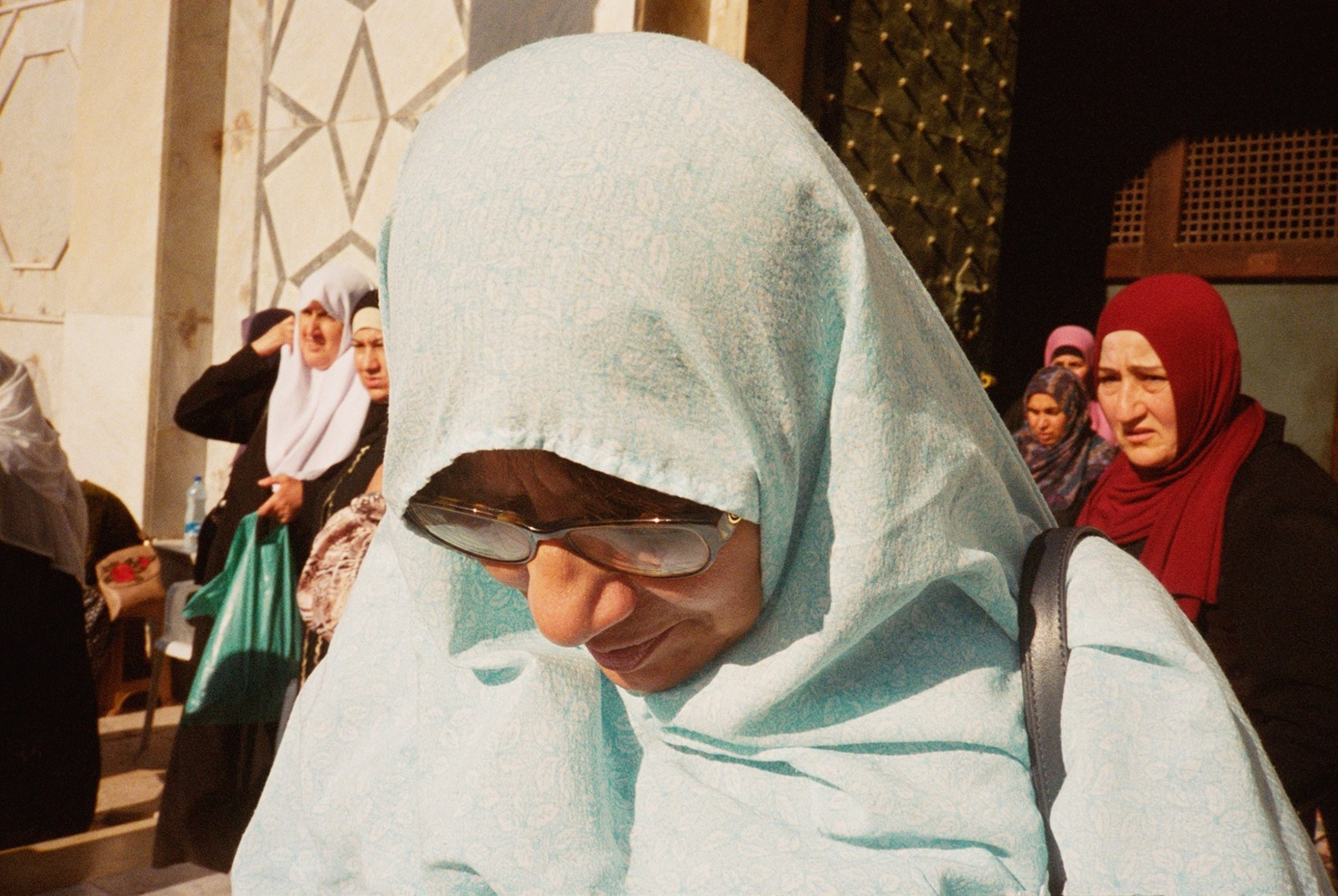 11 - My Mother (with Women) Leaving Prayer at Al-A