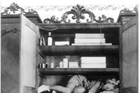 Claude Cahun, Self portrait (in cupboard), c. 1932