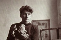 Lucien Freud with a bird, c. 1940s