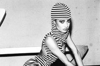 1_Arlene Gottfried_Striped Woman at Studio 54, NY
