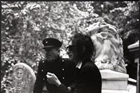 John Cooper Clarke and Hugh Cornwell at Abney Cemetery