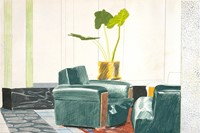 David Hockney, Chairs, Mamounia Hotel, Marrakesh, 1971, colo