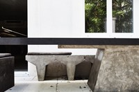 PLUG TABLE, CONCRETE BENCH FROM FURNITURE COLLE