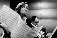 Marlene Dietrich at the studios of Columbia Records