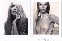 Jerry Hall, 1996 and Jodie Kidd, 1999