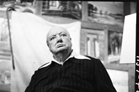 Winston-Churchill-sitting-for-Graham-Sutherland,-1