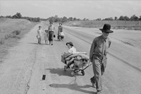 13. Dorothea Lange Cars on the Road, August 1936.