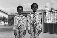 web Kids dressed in identical suits, Accra, 1970s