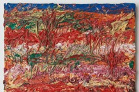 6. Landscape, 1991, oil on canvas, 25.4 x 35.56 cm