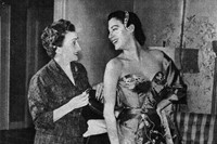 Micol Fontana with Ava Gardner attending US premiere