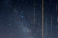 Milky Way and the Arecibo Observatory in Puerto Ri