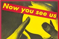 Barbara Kruger - Untitled (Now You See Us Now You