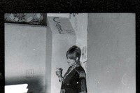 Marianne Faithfull at Frank Zappas house, 1968