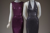 Norman Norell Mermaid evening dress Purple silk jersey, and