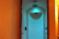 Shower and hammam in a suite at Le Cheval Blanc