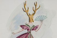 DOROTHEA TANNING - Costume Design for Night Shadow