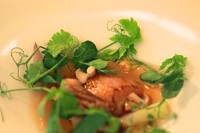 Smoked bone marrow with beef broth by Mauro Colagreco
