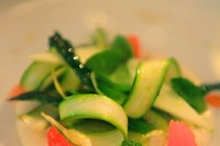 Green asparagus salad by Mauro Colagreco