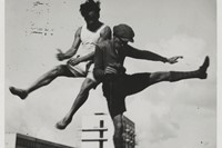 T. Lux Feininger, Sport at the Bauhaus / Jump over the Bauha