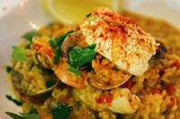 Shellfish and saffron rice