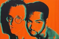 10330, Andy Warhol, Portrait of Keith Haring and J