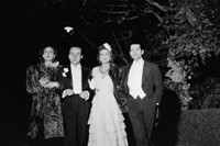 Coco Chanel, Serge Lifararrive and Paul Morand arrive at the