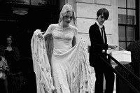 Katie Shillingford with Gareth Pugh on her wedding day