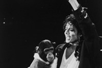 Michael Jackson and Bubbles during the Bad tour