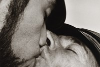 Peter Hujar, Jay and Fernando [Two Men in Leather Kissing],