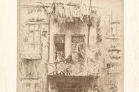 Balcony, etching on paper, James McNeill Whistler, Amsterdam