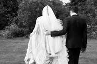 Katie Shillingford and Alex Dromgoole on their wedding day