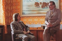 Wes Anderson and Tom Wilkinson