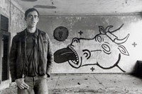 KW_DW_Untitled (David Wojnarowicz with Cow Mural),