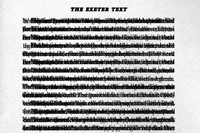 E, (The Exeter Text), every page of Georges Perec's The Exet