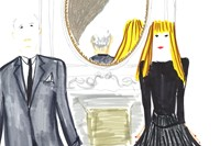 Victoire and Christian in the Dior Grand Salon