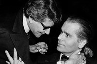 Yves Saint Laurent and Karl Lagerfeld