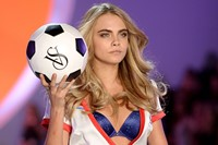 Cara Delevingne at the Victoria's Secret Fashion Show 2013