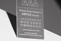 Maison Martin Margiela invite to the 20th anniversary show