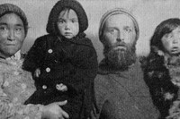 Peter Freuchen with Navarana Mequpaluk and their children