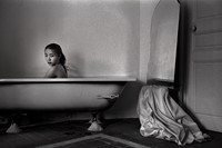 Hu Yuanli sitting in the bath tub, Paris, 1992